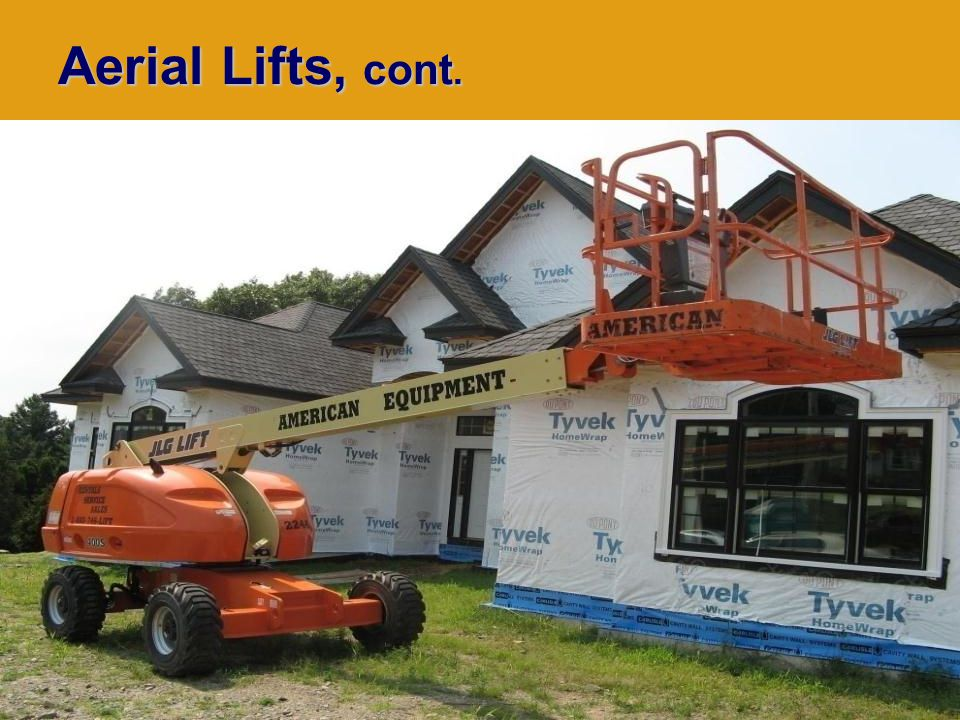 Rev: 8-2011 Aerial Lifts, cont.