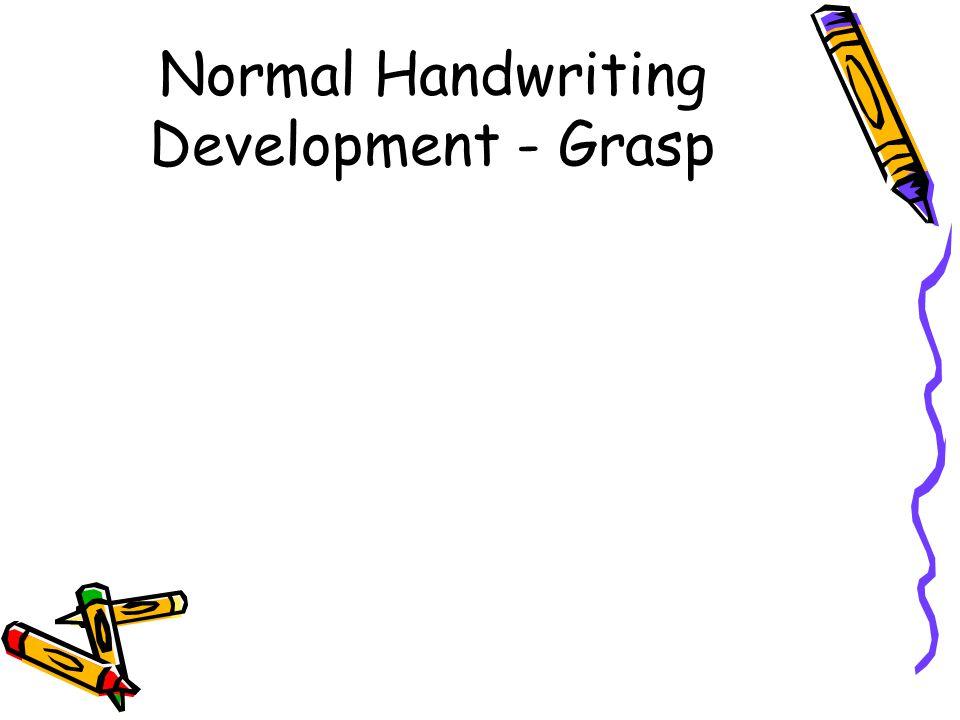 Normal Handwriting Development - Grasp