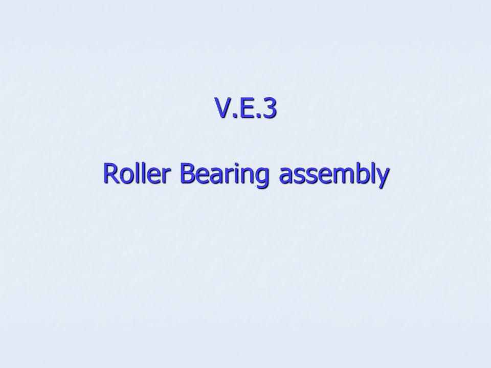 V.E.3 Roller Bearing assembly