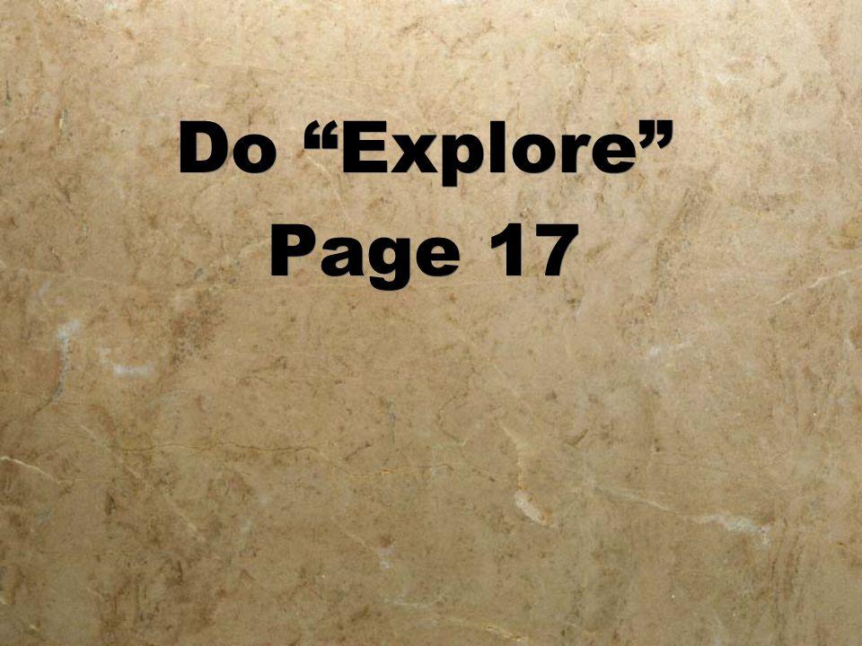 "Do ""Explore"" Page 17 Do ""Explore"" Page 17"