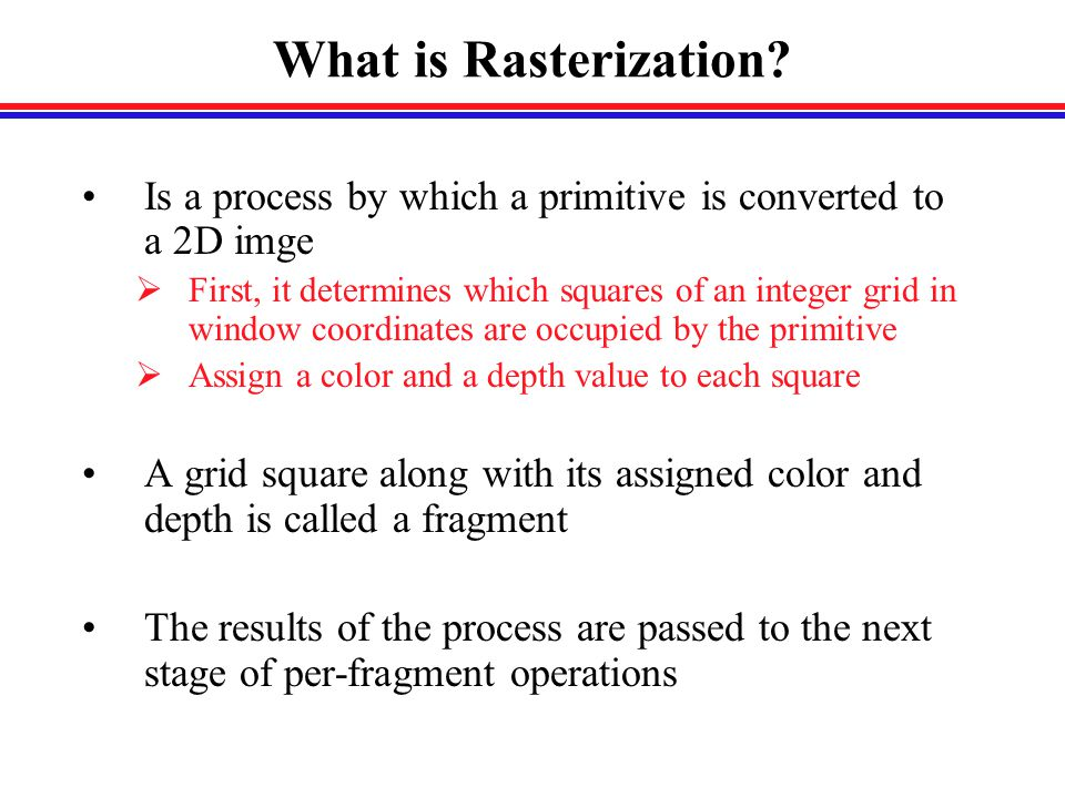 What is Rasterization.