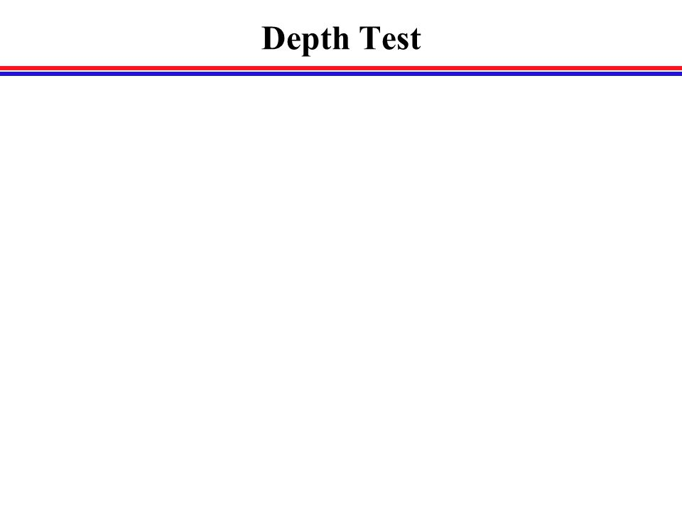Depth Test