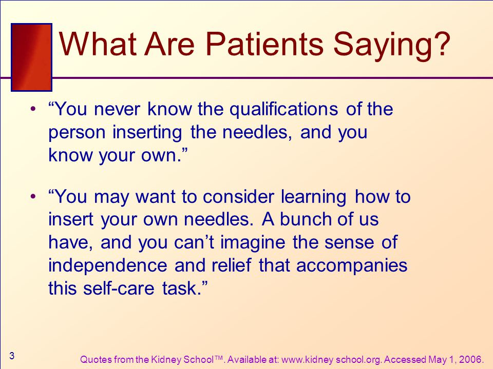 3 What Are Patients Saying.