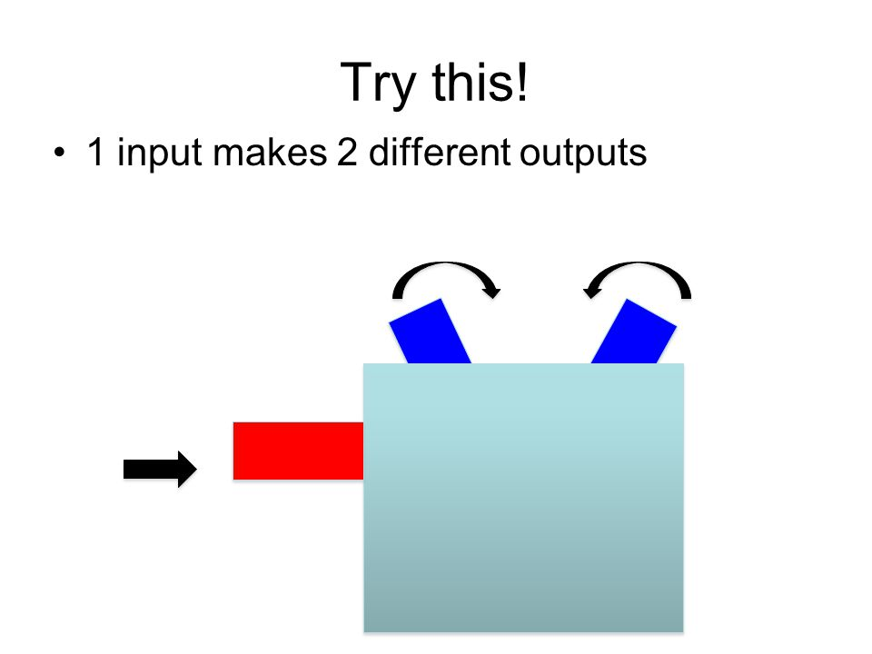 Try this! 1 input makes 2 different outputs