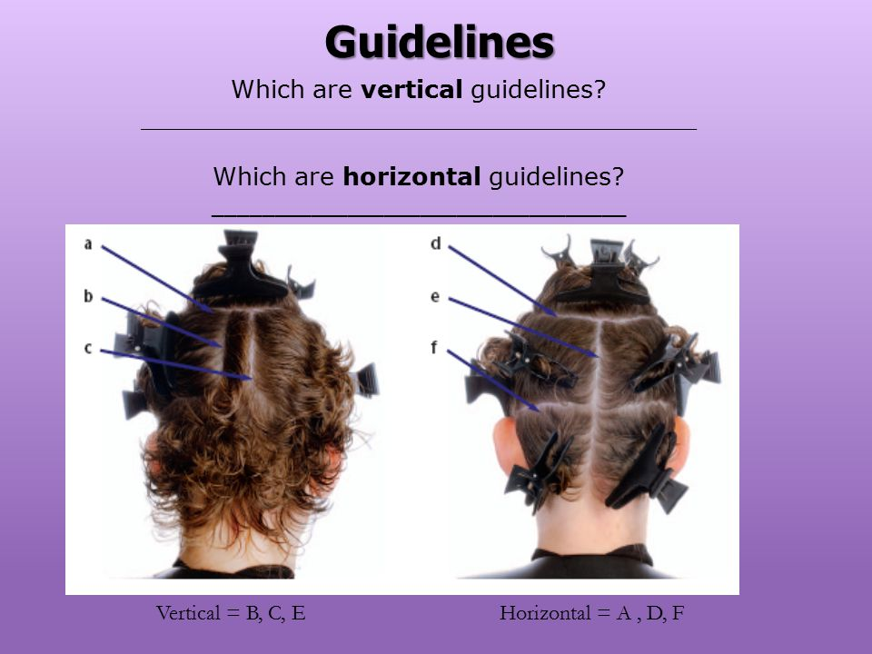 Which are vertical guidelines? ____________________________________ Which are horizontal guidelines? __________________________________ Horizontal = A