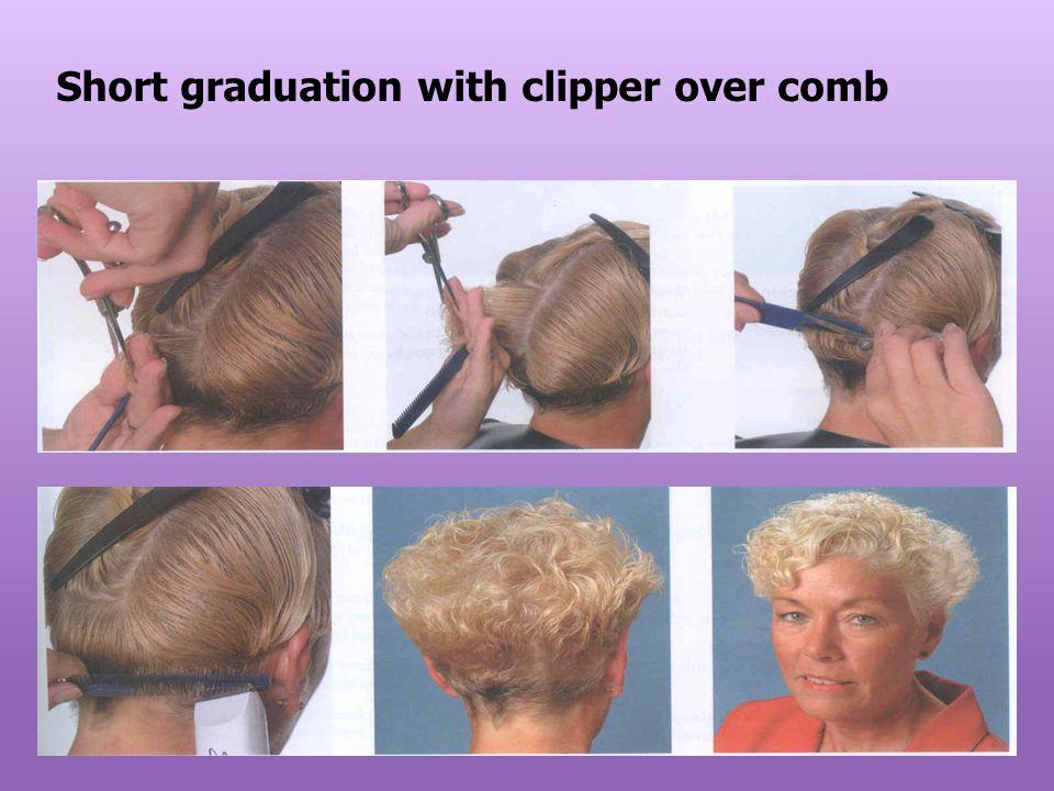 Short graduation with clipper over comb
