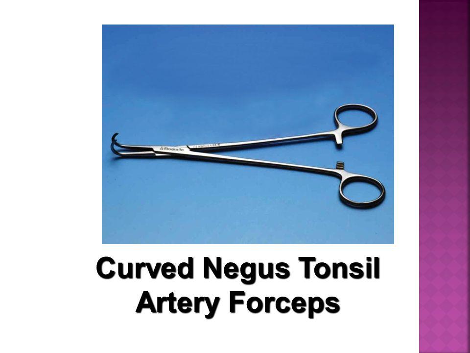 Curved Negus Tonsil Artery Forceps