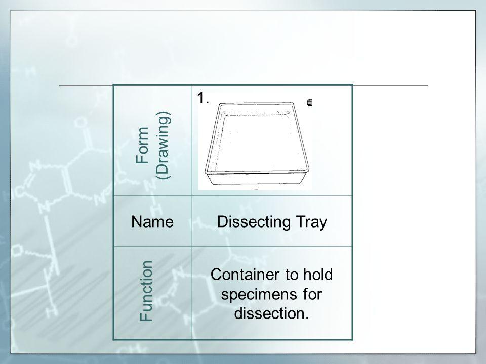 15. NameMicroscope Slide Form (Drawing) Function