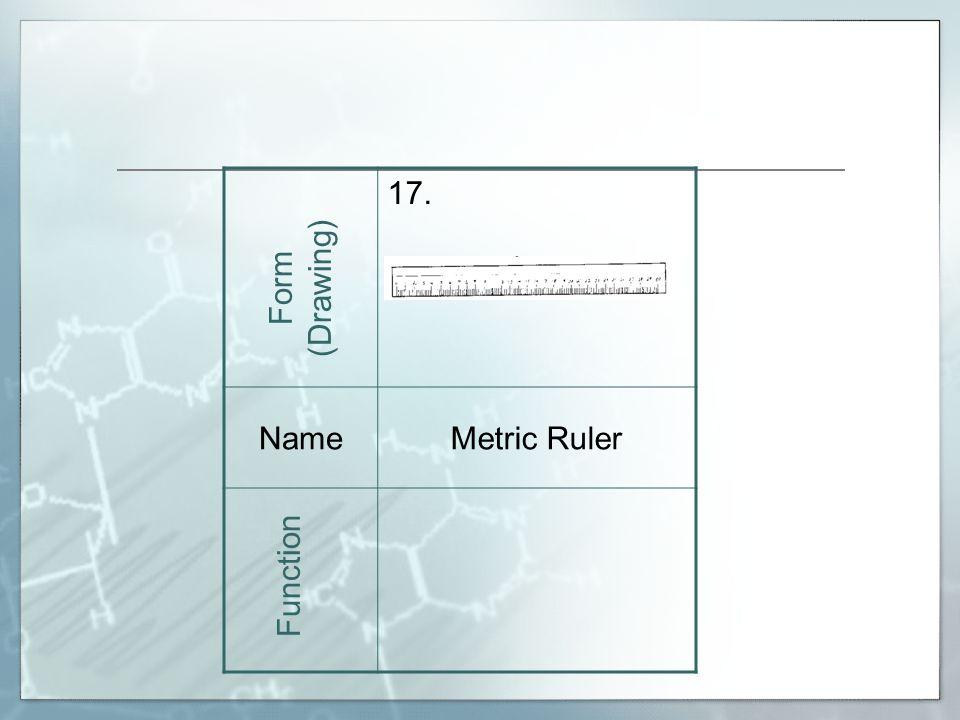 17. NameMetric Ruler Form (Drawing) Function