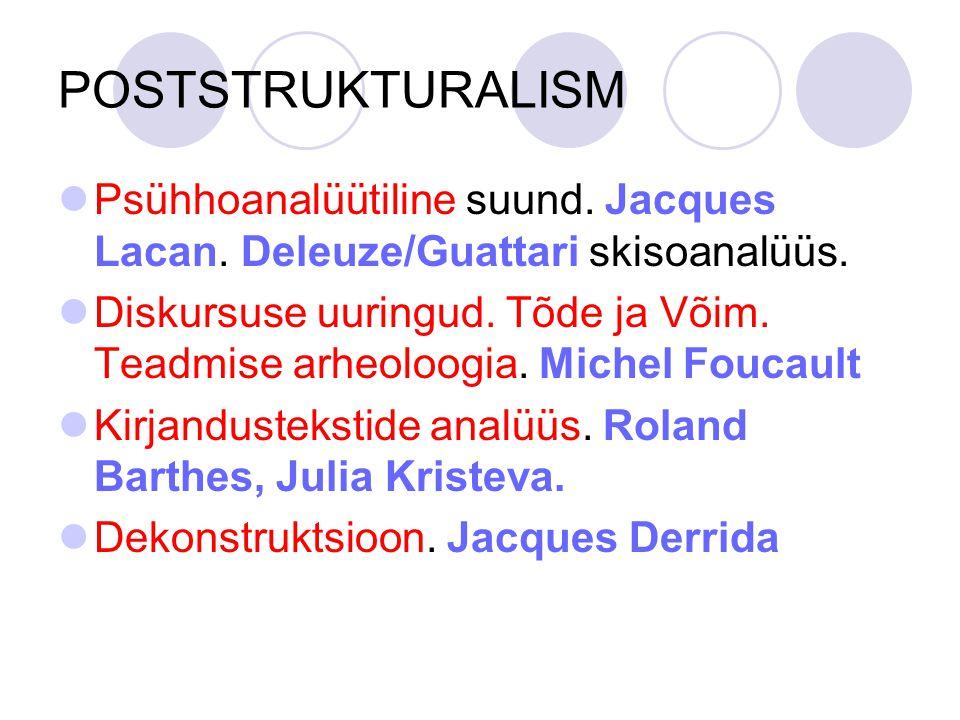 POSTSTRUKTURALISM Psühhoanalüütiline suund.Jacques Lacan.