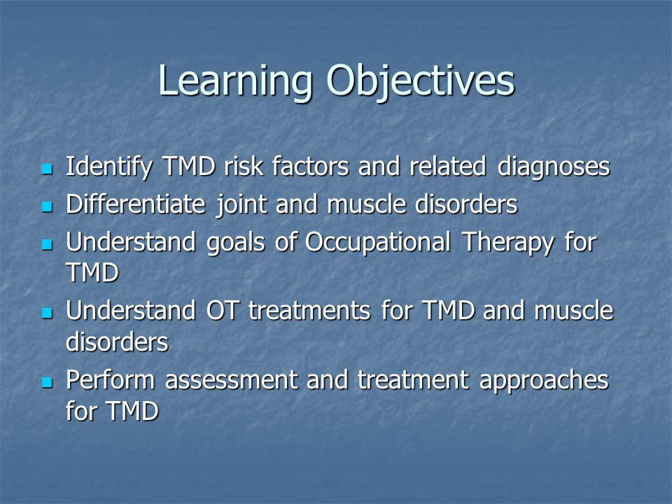 Disorders of the TMJ Myofascial Dysfunction Myofascial Dysfunction Internal Derangement Internal Derangement Capsulitis Capsulitis Subluxation Subluxation Arthritis Arthritis