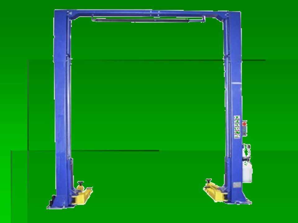 Lift Descriptions- 2 Post Lifts  Most popular  Inexpensive  Easy access to removable parts on vehicles