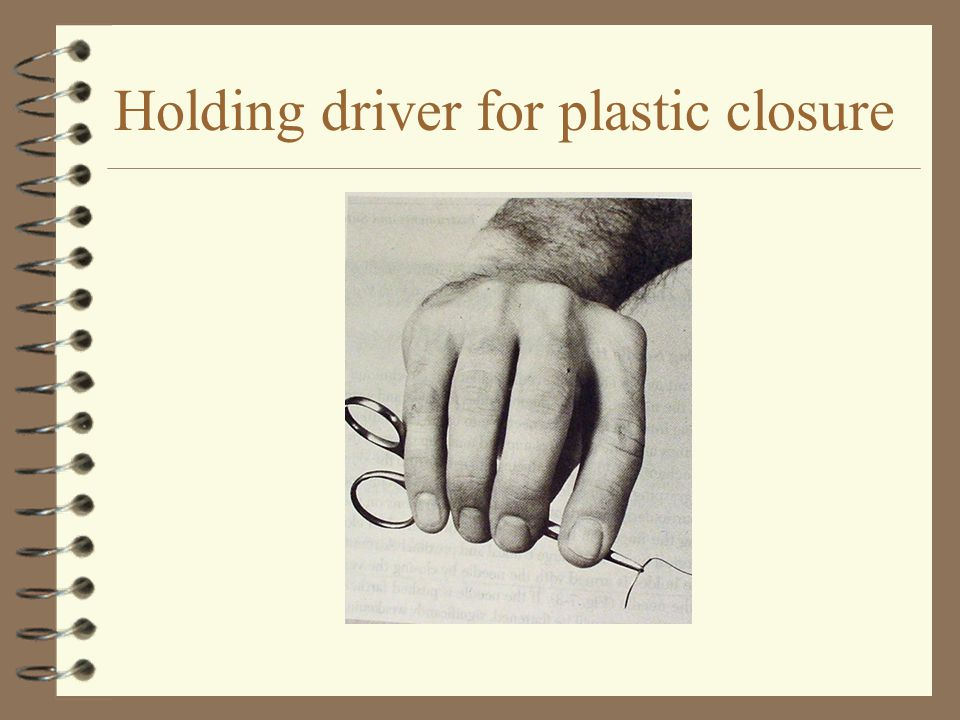 Holding driver for plastic closure