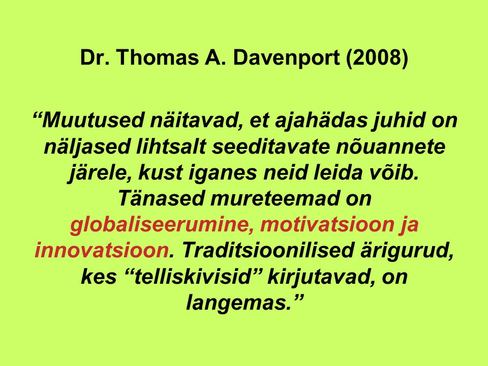 Dr. Thomas A.