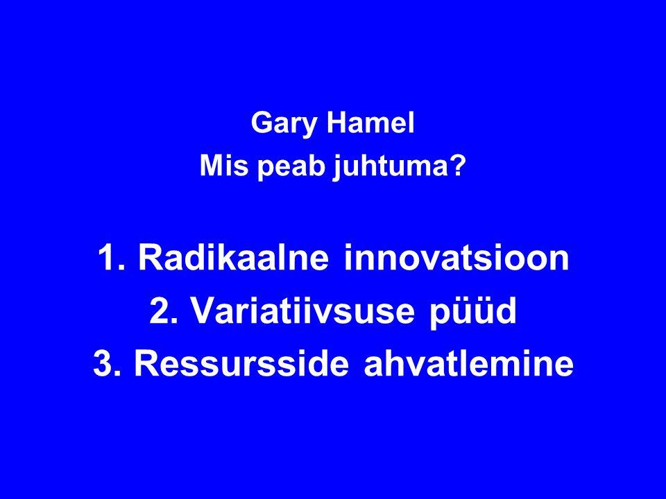 Gary Hamel Mis peab juhtuma. 1. Radikaalne innovatsioon 2.
