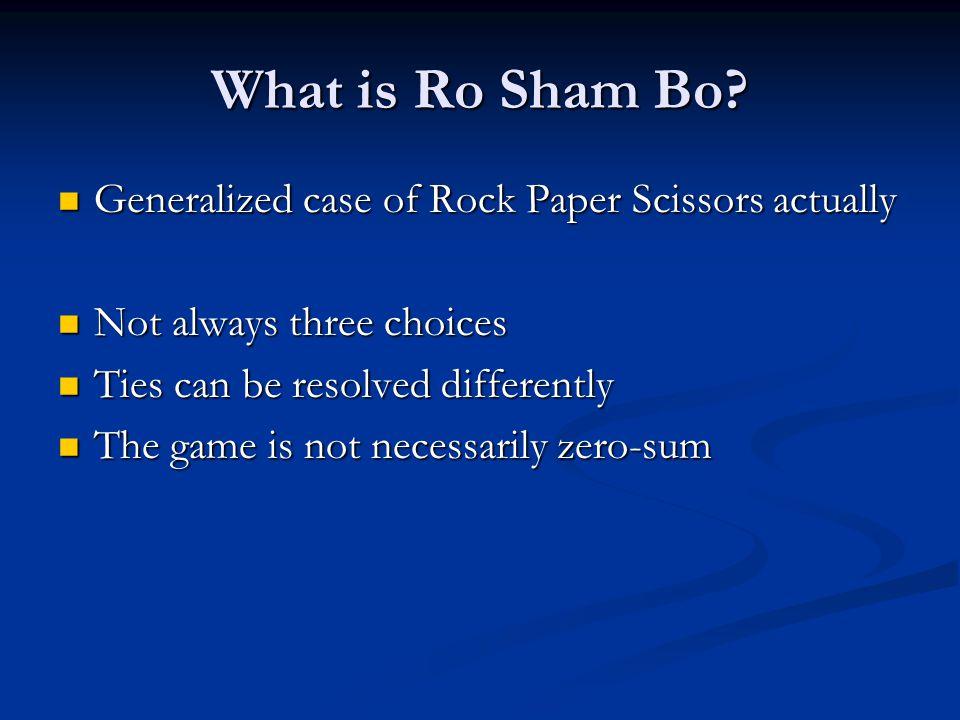 What is Ro Sham Bo.