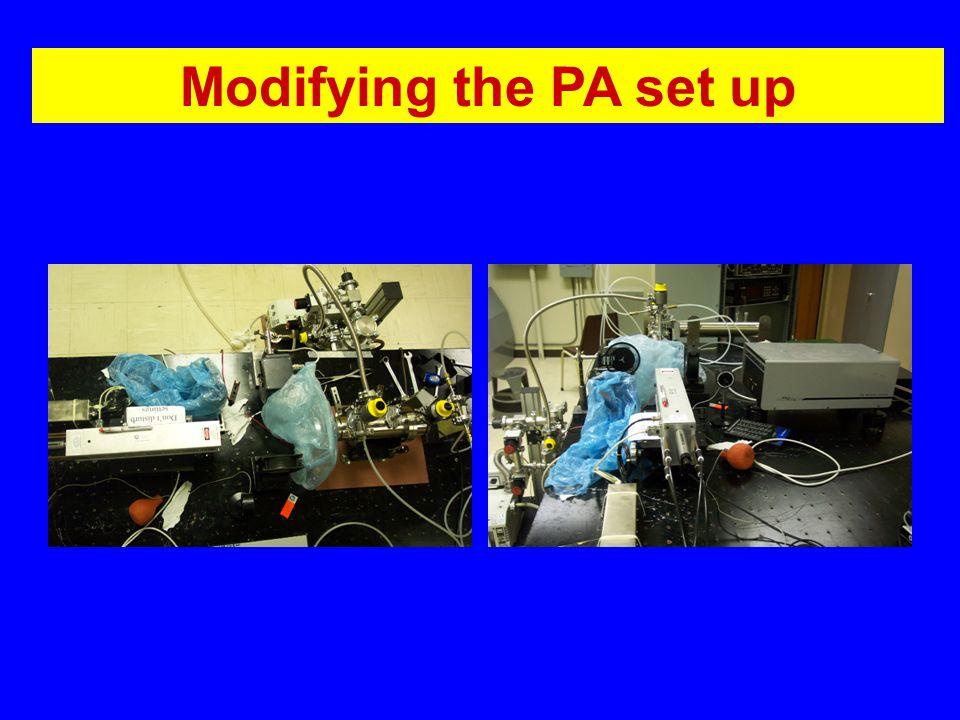 Modifying the PA set up