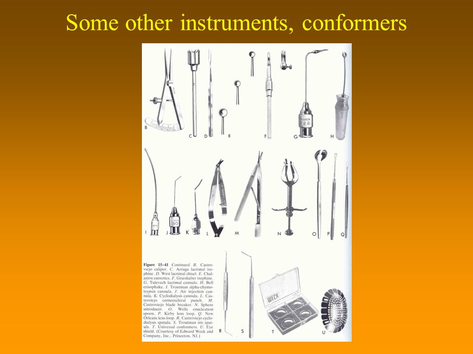 Some other instruments, conformers