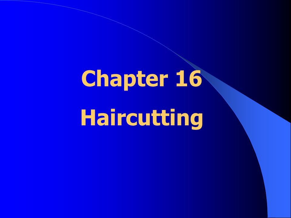 Basic Principles of Haircutting Good haircuts: *understand the shape of the head Hair responds differently: *various areas *depends on length *cutting technique used