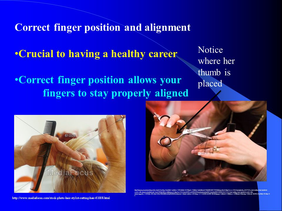Correct finger position and alignment Crucial to having a healthy career Correct finger position allows your fingers to stay properly aligned http://w
