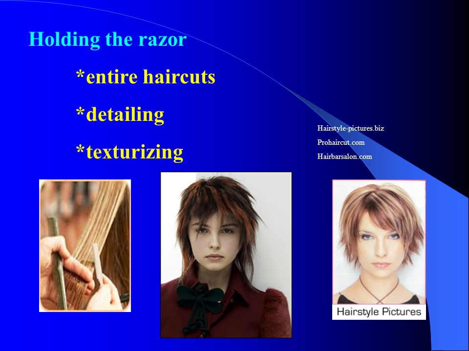Holding the razor *entire haircuts *detailing *texturizing Hairstyle-pictures.biz Prohaircut.com Hairbarsalon.com