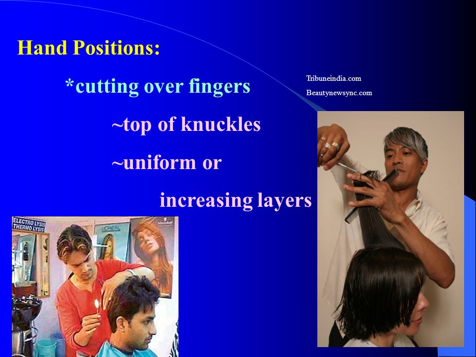 Hand Positions: *cutting over fingers ~top of knuckles ~uniform or increasing layers Tribuneindia.com Beautynewsync.com