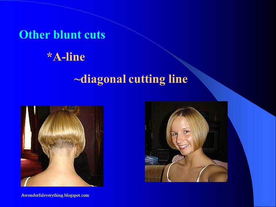 Other blunt cuts *A-line ~diagonal cutting line Awonderfuleverything.blogspot.com