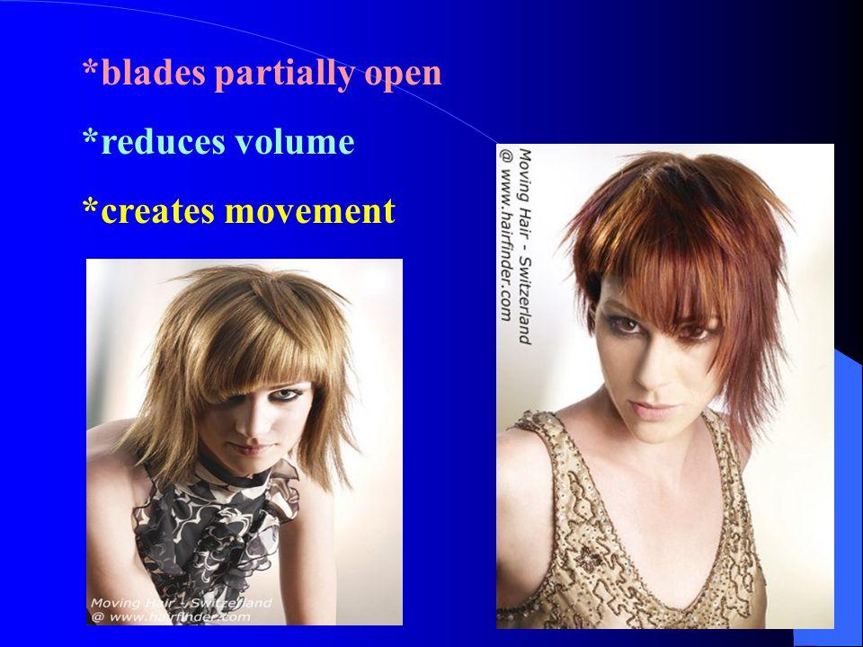 *blades partially open *reduces volume *creates movement