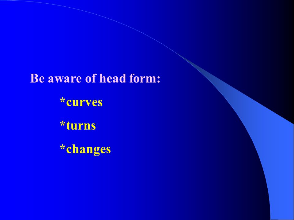 Another danger zone---ears Very little or no tension Blunt cuts can be designed with or without bangs (fringe) *on straight, or curly hair *short, medium, or long length