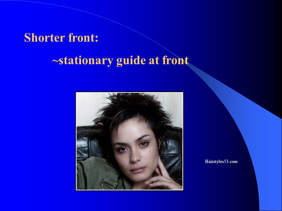 Shorter front: ~stationary guide at front Hairstyles53.com