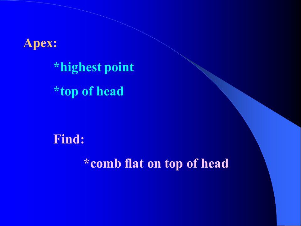 Coarse: *sticks out if too short Fine: *cut very short, still lies flat *scalp shows