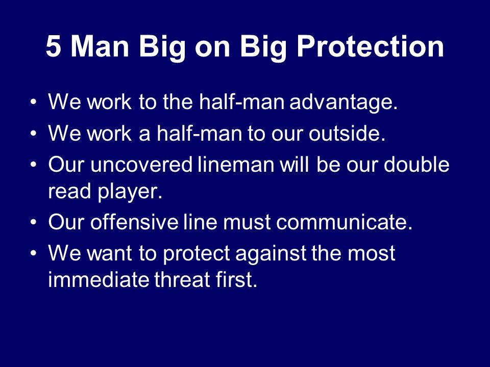 5 Man Big on Big Protection We work to the half-man advantage.