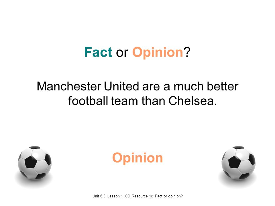 Unit 8.3_Lesson 1_CD Resource 1c_Fact or opinion.Fact Fact or Opinion.