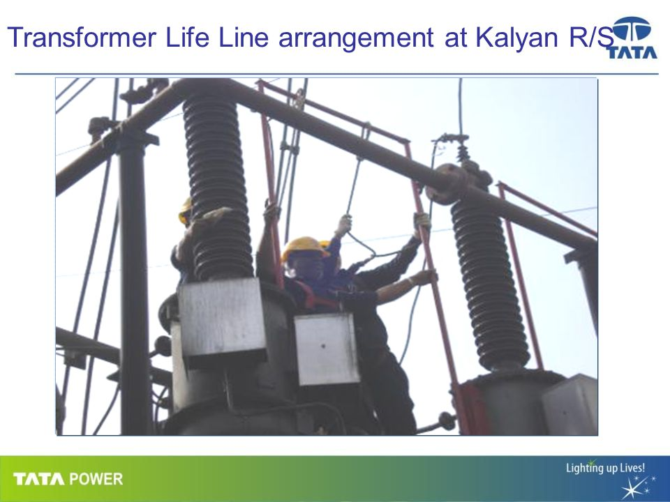 …Message Box ( Arial, Font size 18 Bold) Transformer Life Line arrangement at Kalyan R/S