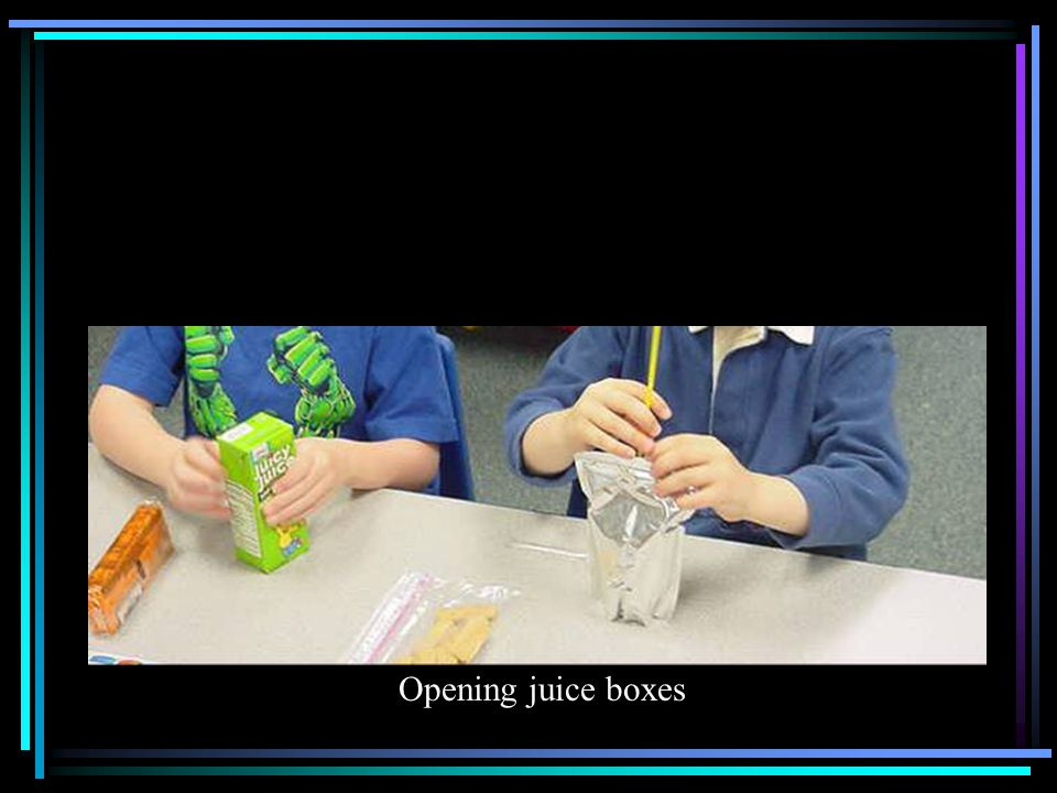 Opening juice boxes