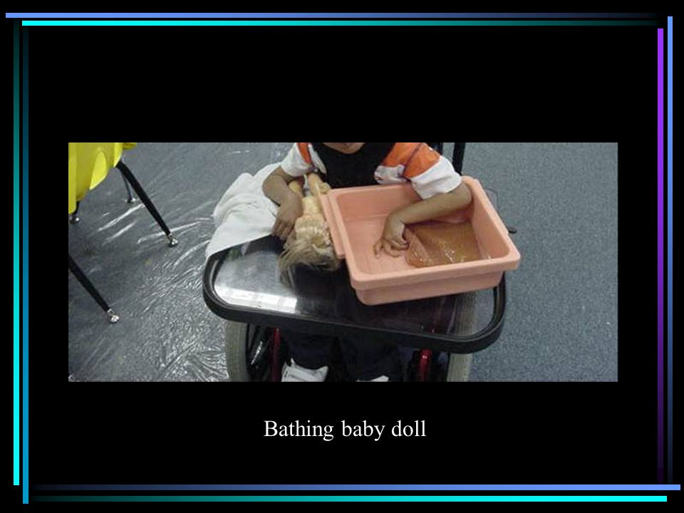 Bathing baby doll