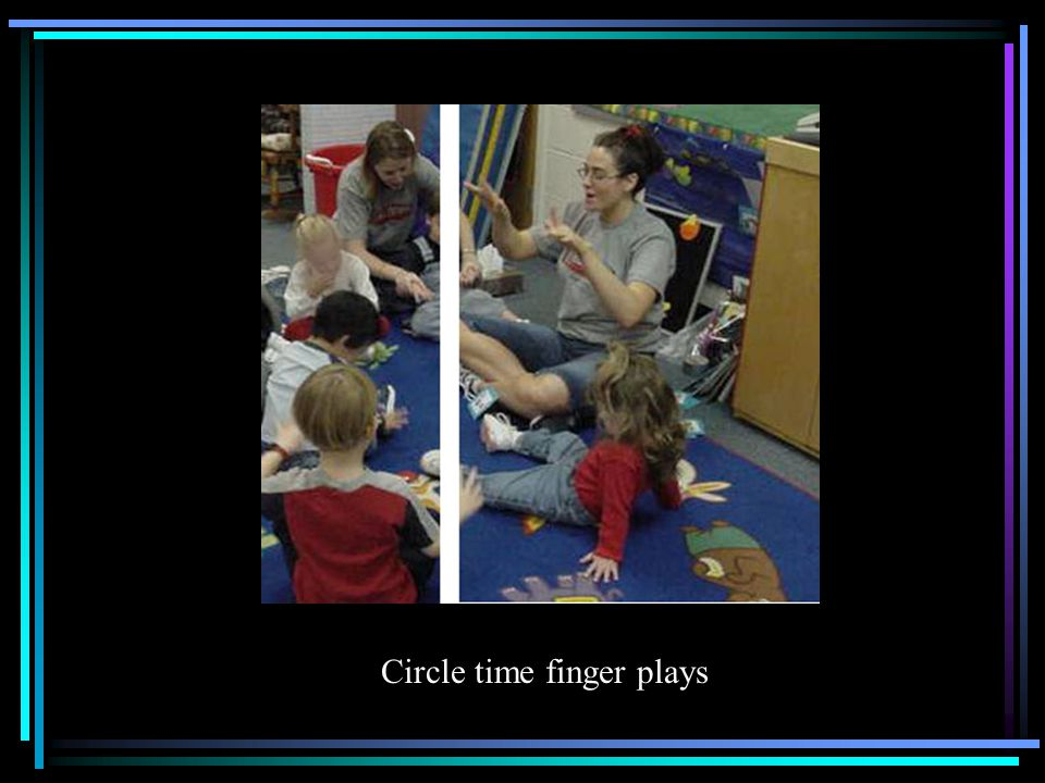 Circle time finger plays