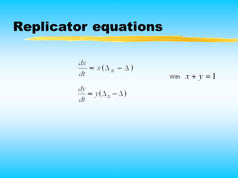 Replicator equations With
