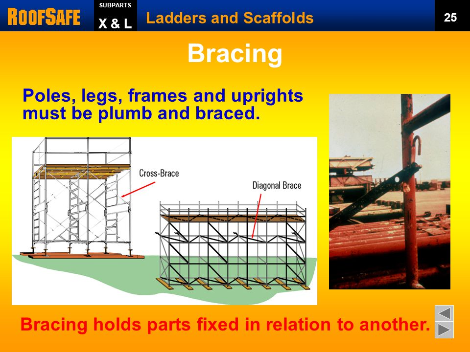 Can we apply any of the capacity criteria here? Ladders and Scaffolds 24 SUBPARTS X & L Capacity?