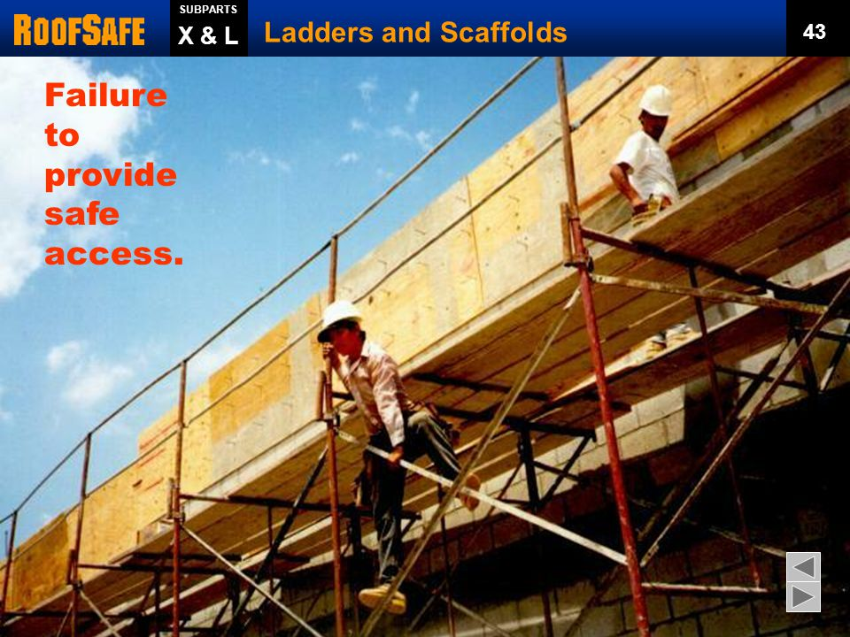  2 hands and 1 foot or 1 hand and 2 feet on ladder.