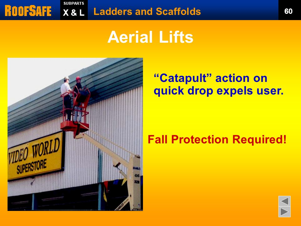 Ladders and Scaffolds SUBPARTS 59 X & L