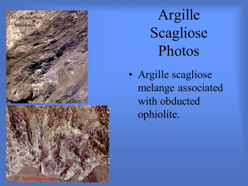 Argille Scagliose Photos Argille scagliose melange associated with obducted ophiolite.