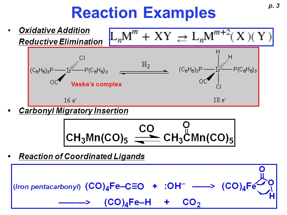 Reaction Examples - continued p.