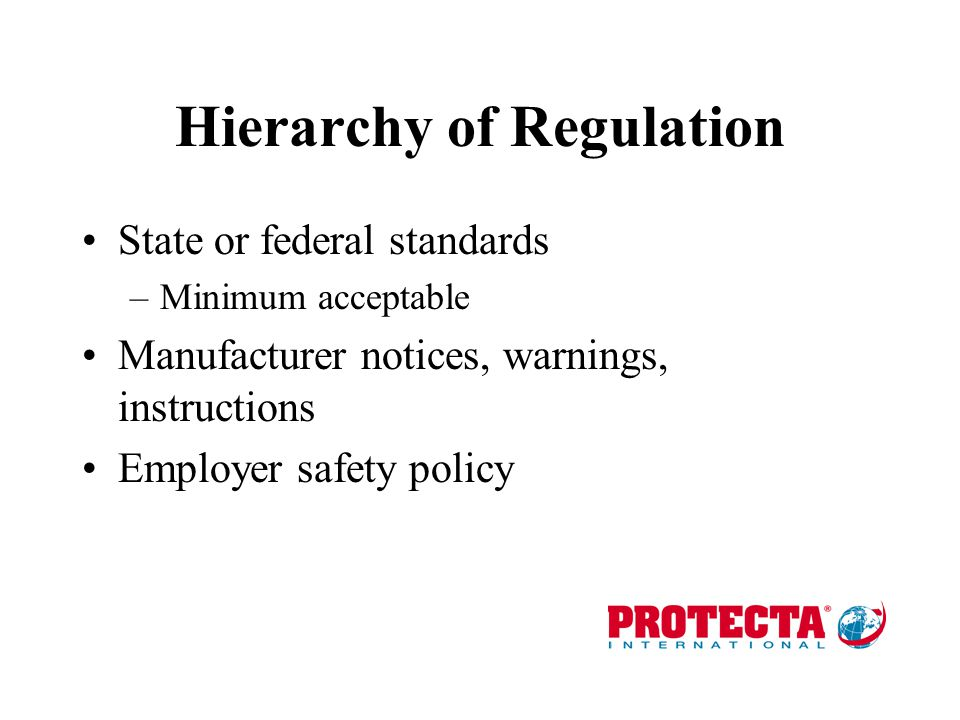 The Regulatory Environment Employers have the GENERAL DUTY to provide a safe, healthy workplace