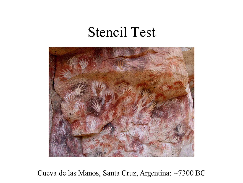 Stencil Test Cueva de las Manos, Santa Cruz, Argentina: ~7300 BC