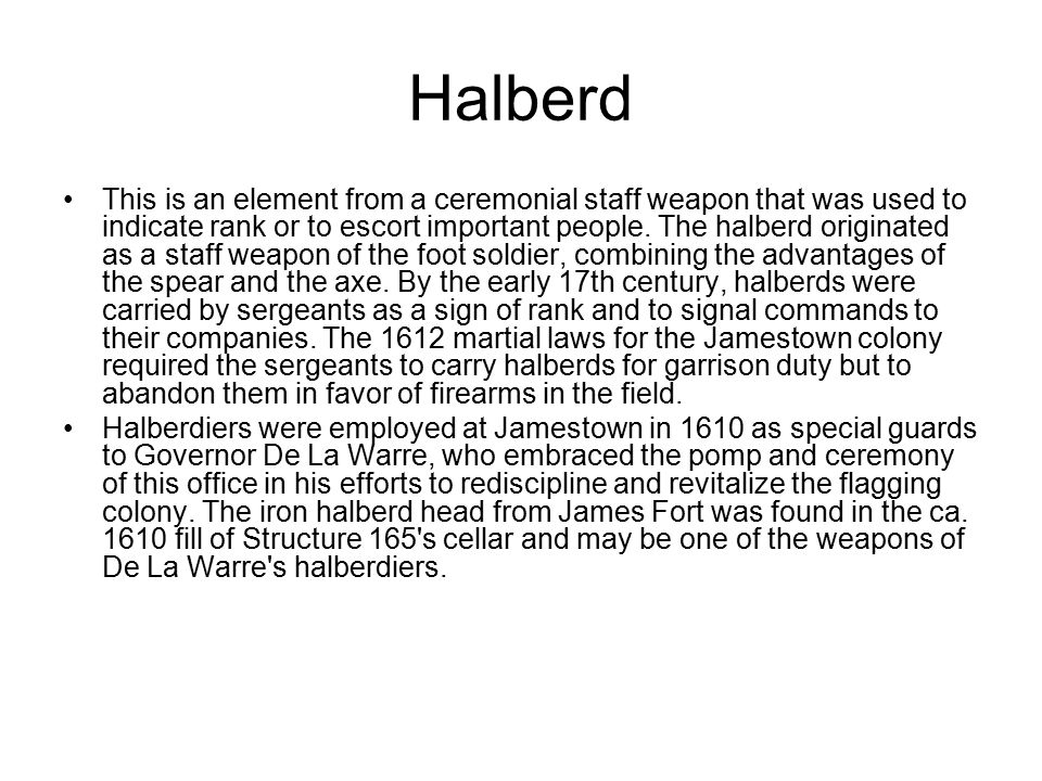 Halberd This is an element from a ceremonial staff weapon that was used to indicate rank or to escort important people.
