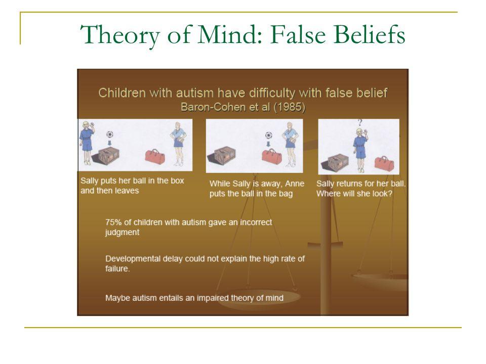 Theory of Mind: False Beliefs