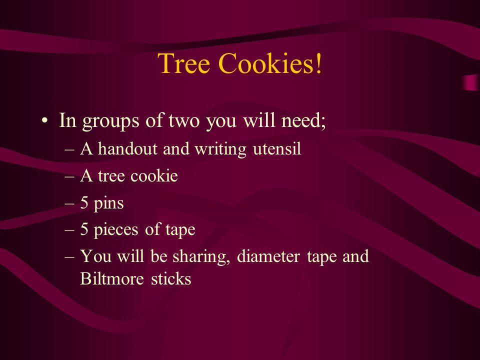 Tree Cookies.