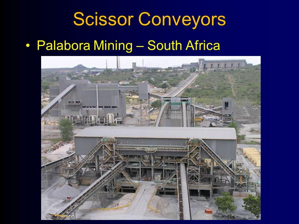 Scissor Conveyors Palabora Mining – South Africa