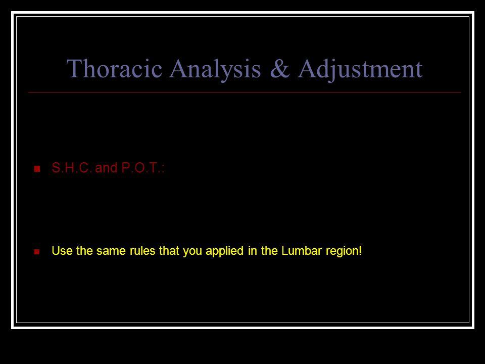 Thoracic Analysis & Adjustment S.H.C.